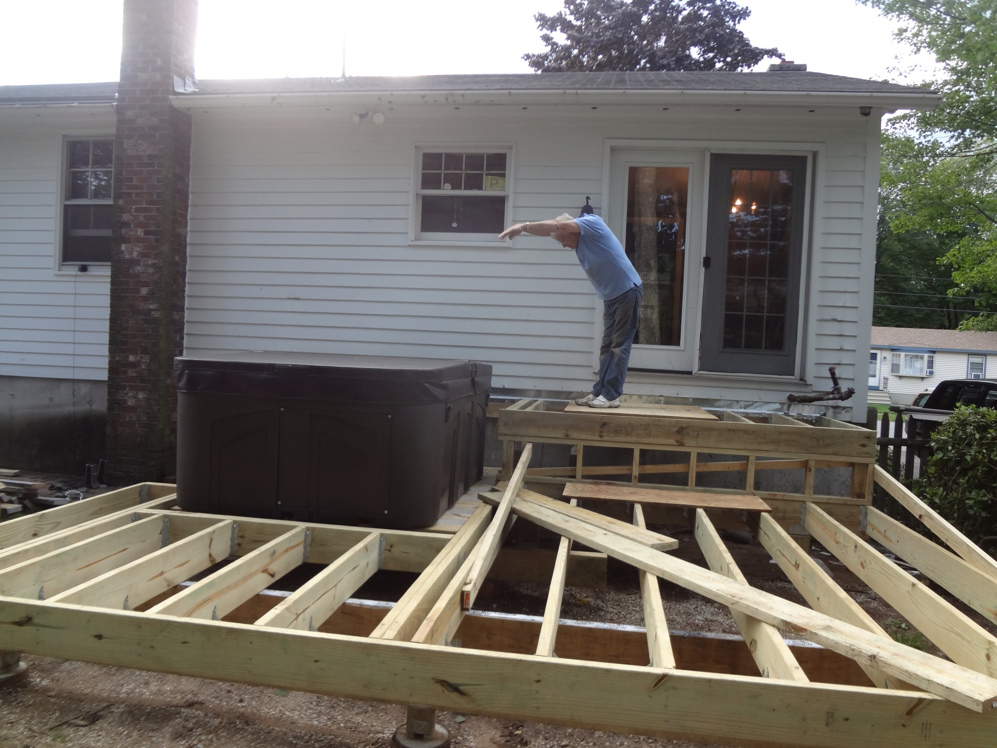 The deck project more framing pergola decking and for Balcony joists