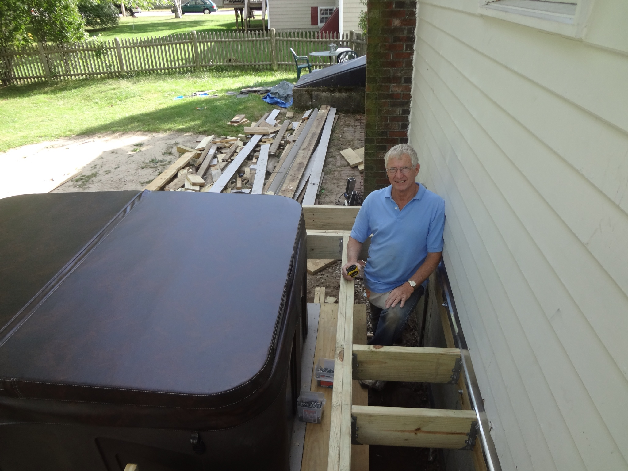 The Deck Project – More Framing, Pergola, Decking and Privacy ...